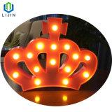 Kroon die het LEIDENE Licht van de Nacht voor Decoratie modelleren