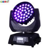 Gbr-Wl3661 36X18W RGBWA+UV 6in1 LED 이동하는 헤드 DJ는 빛 급상승한다