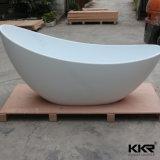 Double baignoire de marbre extérieure solide rectangulaire de tablier (BT170906)