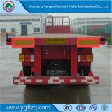 Hete Verkoop 12.5m Flatbed Semi Aanhangwagen van het Vervoer van de Lading van 3 As met Band van de Ster van de As Fuwa de Dubbele