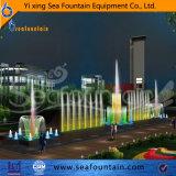 Del feux colorés de la fontaine de la forme de pulvérisation droite Fontaine à eau
