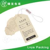 Étiquettes du fabriquant estampées par modèle de papier d'emballage de mode de vêtement de femme