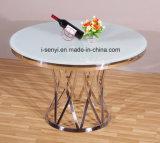 6 het Marmeren of Aangemaakte Glas van de persoon of de Houten Hoogste Basis van het Roestvrij staal om Eettafel