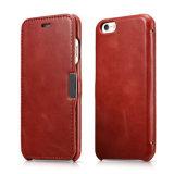 Geschäfts-Weinlese-realer lederner Kippen-Telefon-Kasten für iPhone 7