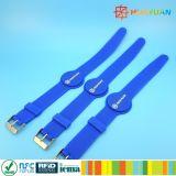 13.56MHz kontaktloser justierbarer RFID SilikonWristband für Zugriffssteuerung
