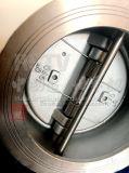 Clapet anti-retour à deux disques d'oscillation de disque de ressort d'acier inoxydable de moulage