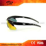 도매 고품질 관례 달리는 자신의 로고 한 조각 렌즈 자전거 승차 색안경을 몰기
