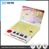 Kind-Ausbildungs-musikalisches Tasten-Abbildung-Buch mit Druckknopf