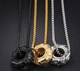 Band Necklaces&Pendants voor Kleur van de Halsband van het Wiel van de Auto van de Manier van de Persoonlijkheid van de Ketting van het Staal van het Titanium van Mensen de Lange Gouden Zwarte Zilveren