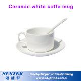 porcelana blanca de cerámica de la taza de la sublimación 11oz para la impresión del traspaso térmico