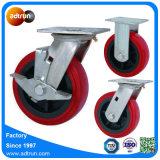 150mm Oberseite-Platten-Polyurethan-Fußrollen-Rad der Kapazitäts-200kg für Transport-Transportwagen