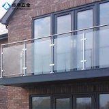 Pasamano de cristal modificado para requisitos particulares alta calidad de la barandilla del acero inoxidable
