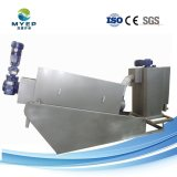 Stainless-Steel deshidratación de lodos de tratamiento de aguas residuales químicos filtro prensa de tornillo