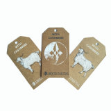 Design personalizado papel vestuário reciclado pendure as tags