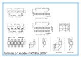 8 Контакты 2.0mm тона типа DIP дважды в один ряд с контактами заднего ряда цилиндров