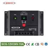 12V 24V 15A Ce RoHS PWM Diagrama del circuito del controlador de carga solar con USB