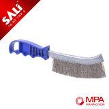 Щетка ножа голубого цвета латунная Coated с пластичным Hantle