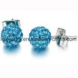 Acero quirúrgico Joyería Shamballa Stud Earrings joyería personalizada