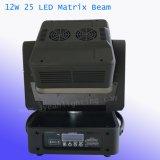 Disco 25X12W d'éclairage LED à matrice de faisceau de déplacer la tête du ciel