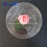Rectángulo de acrílico de las rosas de la fábrica con 16 orificios