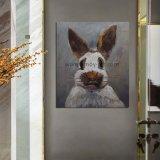 ハンドメイドの農場の芸術の壁の装飾のための白いウサギの油絵