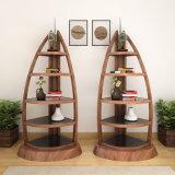 Design de moda Revista de escritório em madeira de nogueira Estante