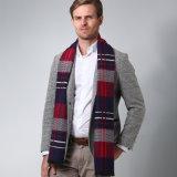 2018贅沢な冬のスカーフの暖かいスカーフのウールのカシミヤ織のスカーフの人の覆いカラースカーフ