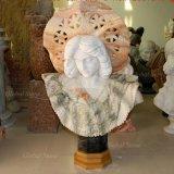 Gracieux buste en marbre sculpté à la main de la Sculpture
