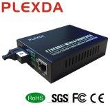 10/100/1000M simple coeur de la fibre de la GDE Media Converter pour Ge Pwr externe Ethernet 20km