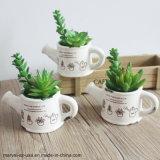 やかんの形の植木鉢の人工的な水気が多いプラント人工的なBonsai