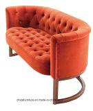 Двойной Loveseat стул ткань диван с деревянными базы