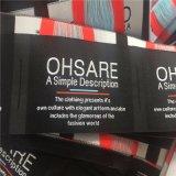 De Alta Densidad personalizado 5*7.2cm Etiquetas Ropa Etiquetas ropa etiquetas tejidas