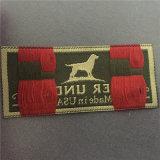 De Alta Densidad personalizada etiquetas tejidas tejido Jacquard etiquetas para prendas