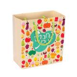 주문 풀 컬러 인쇄 60GSM Kraft 선물 종이 봉지 (YH-PGB040)
