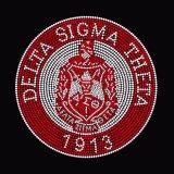 Rhinestone Delta Sigma Theta 1913 años en la transferencia de hierro Hot Fix