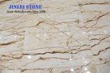 Het opgepoetste Natuurlijke Marmer van Sofitel van de Steen Gouden/Gouden Gele voor Plakken/de Tegels van de Muur/van de Bevloering/Achtergrond