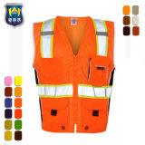 Het Vest van de Veiligheid van het Werk van de op zwaar werk berekende Landmeter
