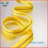 Кожаная сумка металлические Custom латунные молнией желтый молнией