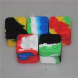 Contenedor de cera silicona cuadrado Aceite de Silicona silicona Jar almacenamiento DAB
