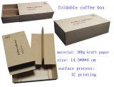 커피 또는 차 포장을%s 싼 인쇄된 Kraft 종이 선물 상자