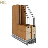 Portello scorrevole di legno lustrato temperato disegno antivento del rivestimento di alluminio dell'espulsione