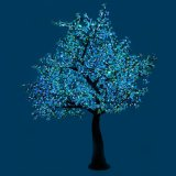 Nieuwe LEIDENE van de Glasvezel van het Ontwerp Kunstmatige de Gekleurde Boom van de Magnolia