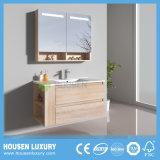 Grãos de madeira MDF Pega Livre Soft via espaço de armazenamento Armário Multi-Bathroom HS-D1115-900