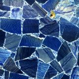 De blauwe Backlit Plak van de Steen Aventurine voor TegenBovenkant