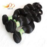 Tramas malaias do cabelo da extensão quente do cabelo da venda 7A