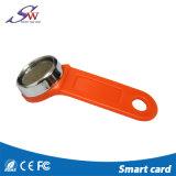 ABS astuto RFID impermeabile pratico Keychain Em4305 con l'anello del ferro