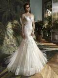 Платье венчания мантии вечера Mermaid шнурка спагеттиа