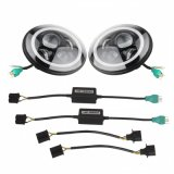 fari rotondi dell'indicatore luminoso LED dell'automobile del fascio LED di 7inch 40W Hi/Lo con DRL