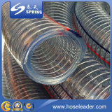 Manguera flexible reforzada de PVC con alambre de acero inoxidable