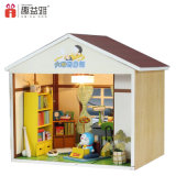 Kid Bela Montagem de brinquedos de madeira DIY Doll House com mobiliário